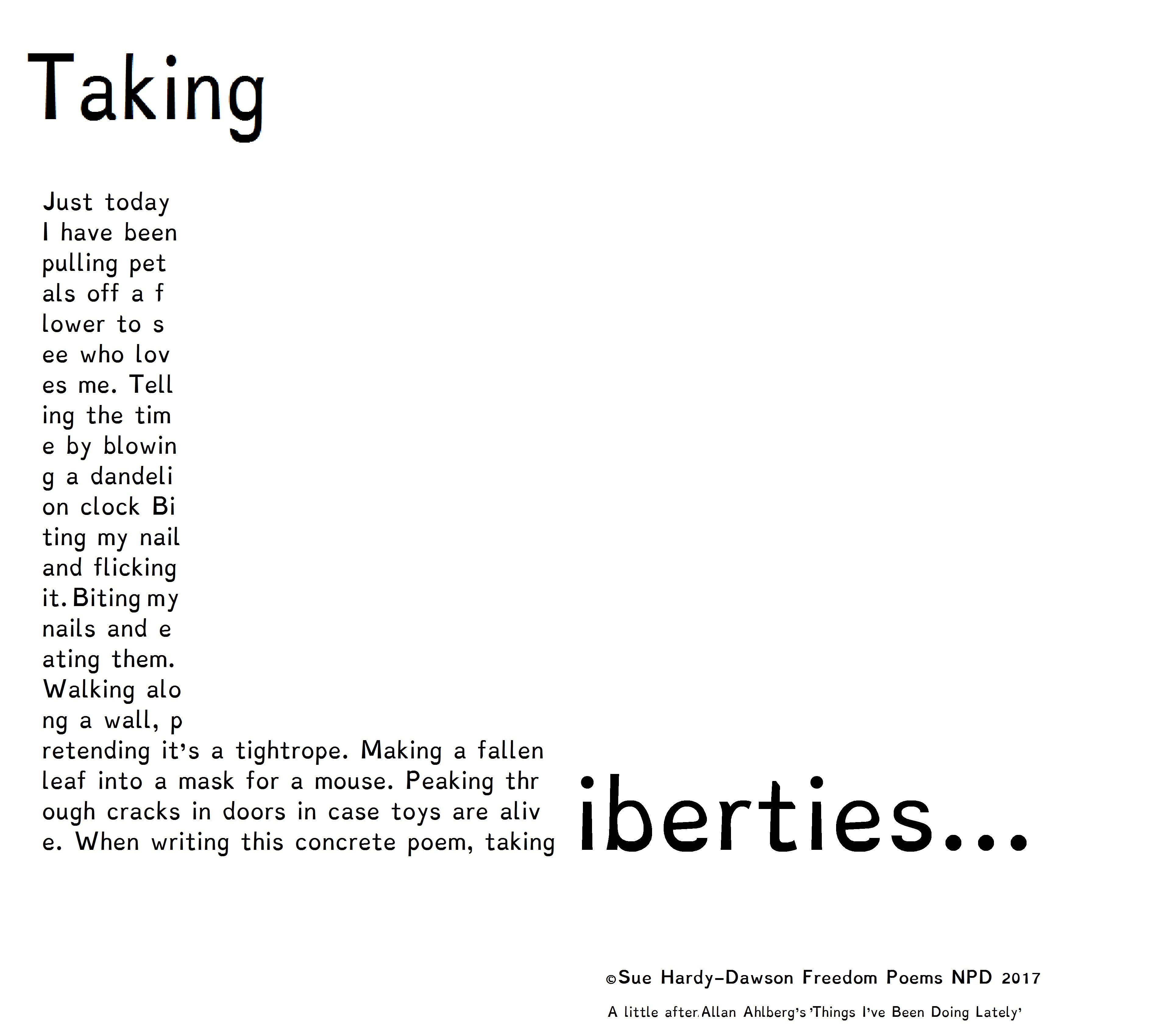 Freedom Poem for National Poetry Day from Sue-Hardy-Dawson ...